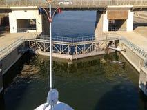 Riviergateway op de rivier Egypte van Nijl Stock Foto