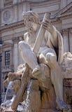 Riviergod Ganges in Piazza Navona, Rome, Italië Royalty-vrije Stock Foto's