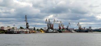 Rivierhaven in Cherepovets Stock Afbeelding