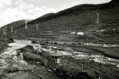 Riviermening van Kangding Stock Foto's