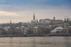 Riviermeningen Boedapest Stock Afbeeldingen