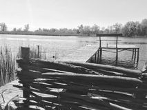rivieroever Stock Foto's