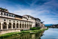 Rivieroever in Florence Royalty-vrije Stock Afbeeldingen