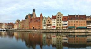 Rivieroever van Gdansk Stock Fotografie