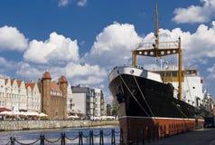 Rivieroever van Gdansk Royalty-vrije Stock Foto's