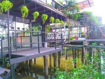 Rivieroeverrestaurant Stock Foto