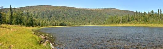 Rivierpanorama in het nationale Park Royalty-vrije Stock Fotografie