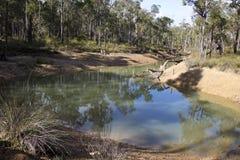 Rivierpool bij Bochtige Beek Westelijk Australië in de winter stock afbeelding