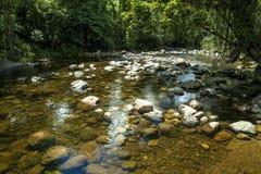Riviersteen in Itariri, de staat van Sao Paulo stock foto