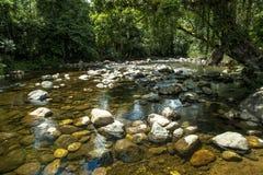 Riviersteen in Itariri, de staat van Sao Paulo stock afbeeldingen