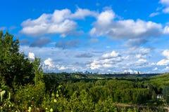 Riviervallei de Noord- van Saskatchewan Stock Fotografie