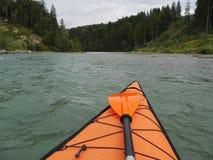 Rivière de kayak Image stock
