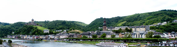 Rivière de la Moselle et Cochem, Allemagne Photo libre de droits