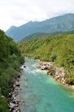 Rivière de Soca Photographie stock