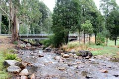 Rivière Mt Bulla Victoria Australia 1 de Delatite Photographie stock