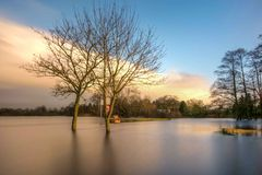 Rivière Shannon Flood Photographie stock libre de droits