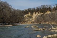 Rivière vermeille Photo stock