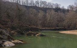 Rivière vermeille Photo libre de droits