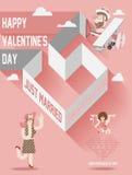 Rivista della copertura di giorno di biglietti di S. Valentino Immagini Stock