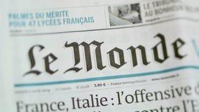 Rivista di Le Monde video d archivio