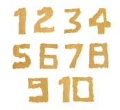 rivit sönder nummerpapper Arkivfoto