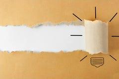 rivit sönder papper royaltyfri bild