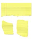 rivit sönder papper för lagligt block Arkivfoton