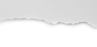 Rivit sönder papper och sönderrivet papper Arkivbild