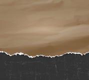 Rivit sönder tappningpapper på grungebakgrund Arkivfoton