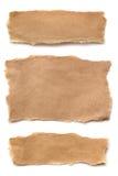 rivit sönder brunt papper Fotografering för Bildbyråer
