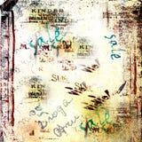 rivna gammala affischer för abstrakt bakgrund Royaltyfri Fotografi