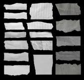 rivna paper stycken Royaltyfri Fotografi