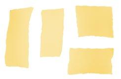 rivna paper stycken för design Arkivfoton