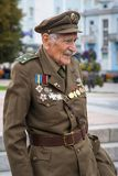 Rivne, Ukraine - 14. Oktober 2012 Veteran des ukrainischen Insu Stockfotos
