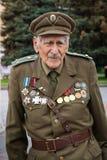 Rivne, Ukraine - 14. Oktober 2012 Veteran des ukrainischen Insu Stockfoto