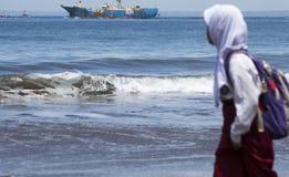 Rivning av fisken piratkopierar VIKING Ship i Indonesien Fotografering för Bildbyråer
