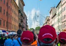 28 06 Rivning 2019 av Ponte Morandi i Genova arkivfoton