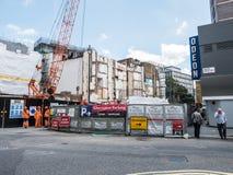 Rivning- och konstruktionsplats på den Panton gatan i London SW1 Arkivbilder
