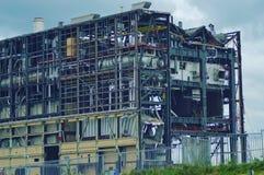 Rivningen av powerplanten ijsselcentralen Arkivfoton