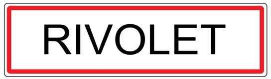 Rivolet city traffic sign illustration in France Stock Image