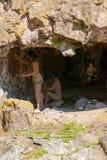 Park of prehistory Rivolta of Adda royalty free stock photography