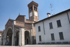 Rivolta d `阿达河克雷莫纳,意大利:圣Sigismondo,中世纪教会 库存照片