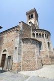 Rivolta d `阿达河克雷莫纳,意大利:圣Sigismondo,中世纪教会 免版税库存图片