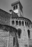 Rivolta d `阿达河克雷莫纳,意大利:圣Sigismondo,中世纪教会 免版税图库摄影