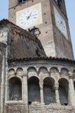 Rivolta d `阿达河克雷莫纳,意大利:圣Sigismondo,中世纪教会 库存图片