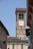 Rivolta d `阿达河克雷莫纳,意大利:老街道 免版税库存图片