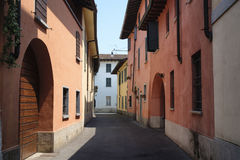 Rivolta D ` Adda Cremona, Italië: oude straat Stock Foto