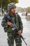 Rivoluzione dei militari di Thailands Immagine Stock
