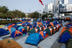 Rivoluzione 2014 dell'ombrello di Hong Kong immagine stock