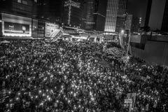 Rivoluzione dell'ombrello, Hong Kong Fotografie Stock